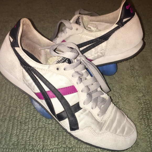 new product daae4 27c41 Onitsuka Tiger tennis shoes gray, black, & violet!